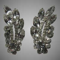 Fabulous Elegant Rhinestone Clip Earrings