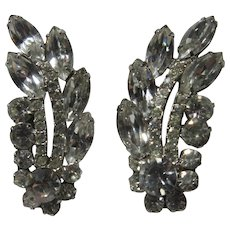 Fabulous Elegant Rhinestone Clip Earrings