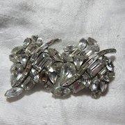 Coro Rhinestone Duette Brooch Pin Clips