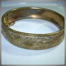 Victorian Gold Filled Bangle Bracelet