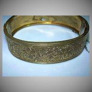 Old Gold Filled Bangle Bracelet