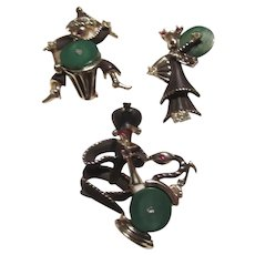 Set Pins 3 Piece Band Snake Charmer Drummer