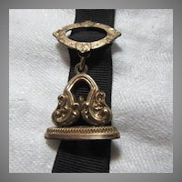 Victorian Watch Fob On Ribbon