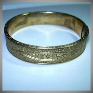 Old Coro Gold Filled Bracelet Ornate Design