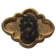Victorian Antique Mourning Black Pin For Lady or Doll