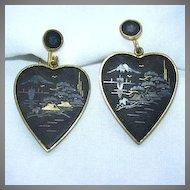 Oriental Heart Earrings