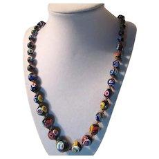 Italian Millefiori Glass Beads Necklace