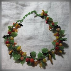 Old Glass Fruit Necklace