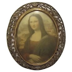 Mona Lisa Art Brooch Pin