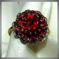 Sarah Coventry Red Rhinestone Ring