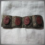 Old China Cinnabar Bracelet