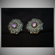 Miriam Haskell Old Clip Earrings