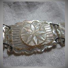 Carved Mother Of Pearl Bracelet MOP