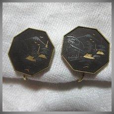 Oriental Clip Earrings