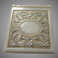 Old Fancy Bakelite Or Similar Ring Medal Jewelry Box