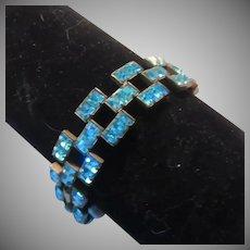 Aquamarine Rhinestone Bracelet