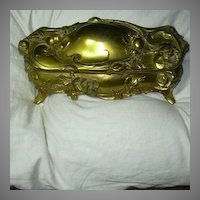 Weidlich Large Jewelry Casket Box Roses Victorian