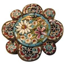 Small Pastel Italian Mosaic Pin
