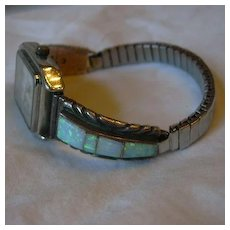 Charlie Bowie Signed Native American Watch With Opals Band Piece