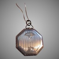 Sterling Silver Octagonal Locket Art Deco Designs