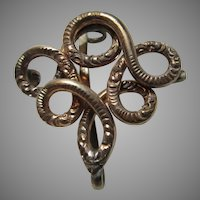 Victorian Gold Filled Ornate Watch Locket Pin