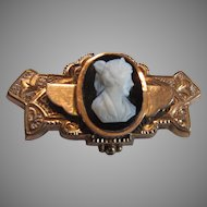 Victorian Pin Brooch With Cameo