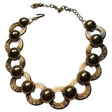 Silver Tone Circles Necklace