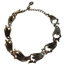 Silver Tone Metal Vintage Necklace