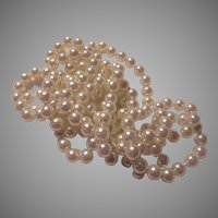 Lustrous Faux Pearls Long Rope Necklace