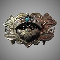 14K Gold Victorian Pin Watch Pendant Holder