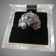 Fine Vintage CZ Cubic Zirconia  Ring  Sz 8.5