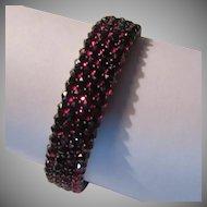 Antique Garnet Bracelet Multiple Rows Fine Jewelry