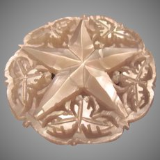 Carved Mother of Pearl Old Pin