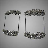 Pair Old Rhinestone Dress Strap Or Belt Jewelry Trim