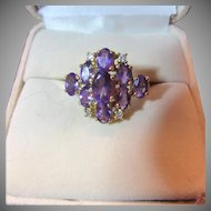 14K Gold & Amethyst Ring