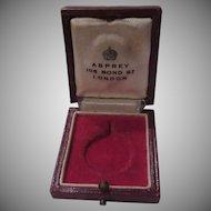 Asprey London Leather Medal Jewelry Box Queen Elizabeth Coronation