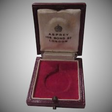 Asprey London Leather Medal Jewelry Box Queen Elizabeth Coronation