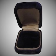Very Small Purple Velvet Old Jewelers Ring Box