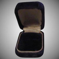 Very Small Purple Velvet Old Jewelers Ring Box