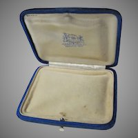 Antique Royal Blue Velvet Small Jewelry Box