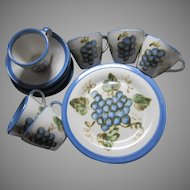John B Taylor Dining Pottery China  Vintage Blue Grapes
