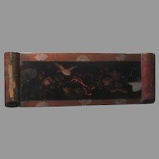 Old Lacquer Lacquerware Glove Box