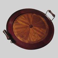 Inlay Wood Bar Dining Tray With Handles