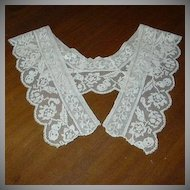 Ecru Filet Crochet Lace Collar Dress Piece