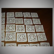 Set 51 Fine Needlework Lace Squares