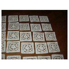 Set 51 Fine Needlework Lace Squares Italian Cantu Battenburg