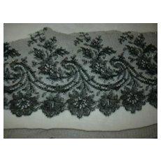 Antique Black Wide Lace Edging