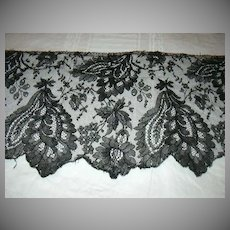 Black Antique Wide Fancy Lace Edging