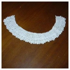 White Crochet Tatted Needle Lace Collar