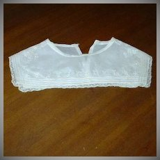 Old Cotton Collar Lace & Embroidery